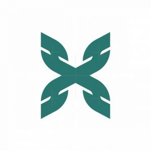 Letter Hx And Butterfly Logo