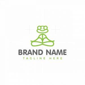 Line Yoga Frog Logo
