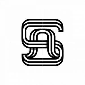 Cool Sa Or As Initial Logo