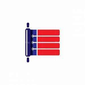 American Flag Rolling Pin Logo