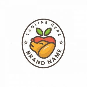 Dog Love Apple Logo