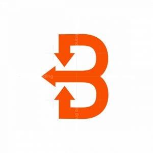 Simple B And Arrow Logo