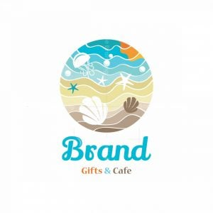 Beach Gifts And Cafe Pictorial Logo