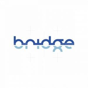 Typographic Bridge Logo