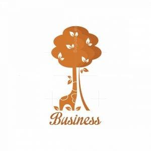 Camouflage Giraffe Symbol Logo