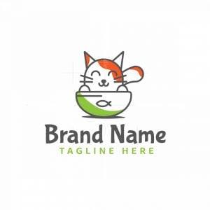 Cat In Bowl Logo