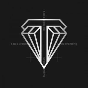 Letter T Diamond Logo