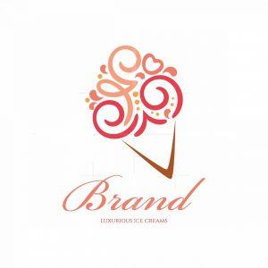 Cool Delight Luxurious Ice Cream Symbol Logo