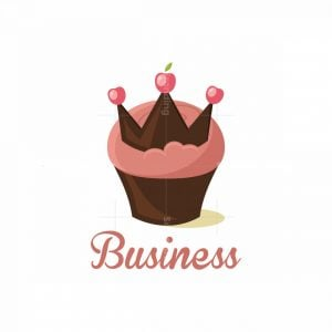 Cupcake Queen Chocolate Crown Pictorial Logo