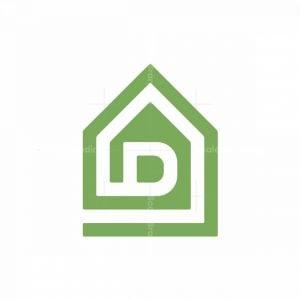 Letter D Home Logo