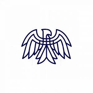 Line Art Eagle Icon Logo