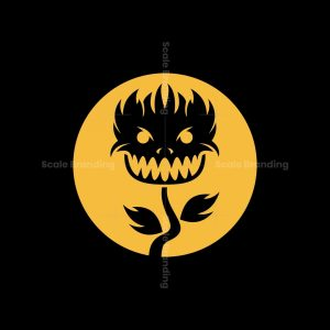Evil Plant Icon Logo