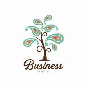 Fabric Tree Textile Industry Pictorial Logo