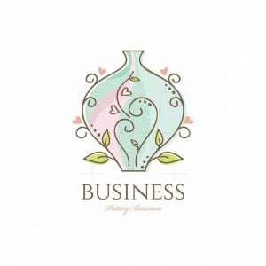 Florist Gift Pottery Floral Logo