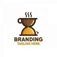 Food And Coffee Time Logo
