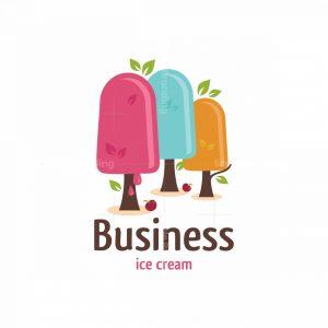 Frozen Forest Ice Cream Symbol Logo