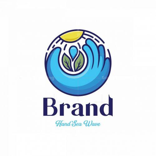 Hand Sea Wave Symbol Logo