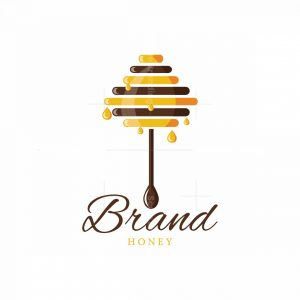 Honey Stick Tree Symbol Logo