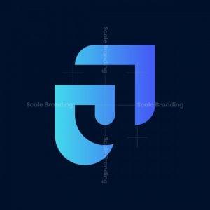 Letter J Shield Logo
