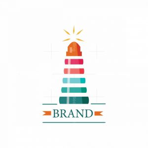 Knowledge Light Books Lighthouse Symbol Logo