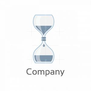 Lab Time Hourglass Symbol Logo