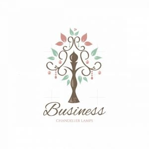 Lamp Tree Chandelier Lamps Floral Logo