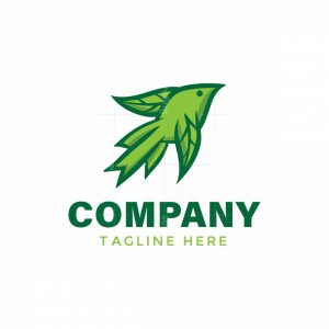 Abstract Leaf Bird Logo