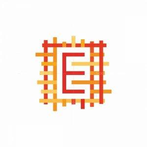 "Letter ""e"" Textile Logo"