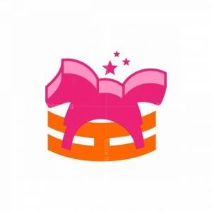 Letter H Baby Horse Logo