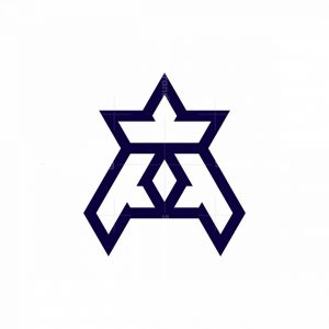 Stylish Letter A Crown Logo