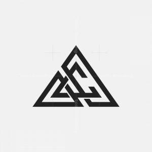 Letter C Triangle Logo