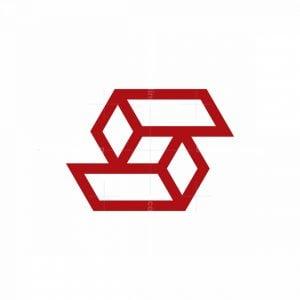 Letter S Sporty Cube Logo