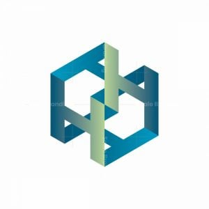 Isometric Letters H Logo