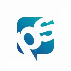 """Letters """"ps"""" Speech Bubble Logo"""