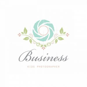 Little Rose Kids Photographer Floral Logo