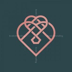 Minimalist Love Diamond Logo