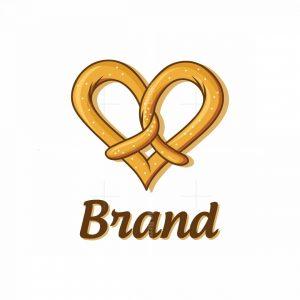 Lovely Pretzels Bakery Symbol Logo