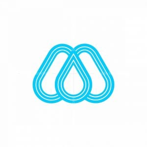 M Water Drop Logo