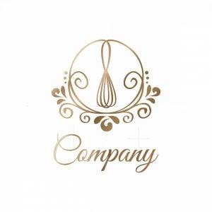 Majestic Whisk Floral Logo