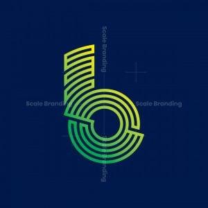 Modern Letter B Or P Or D Logo