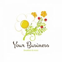 Morning Breakfast Fragrance Symbol Logo