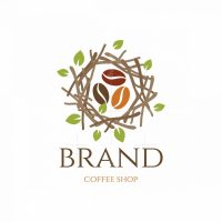 Nest Cafe Coffee Shop Pictorial Logo