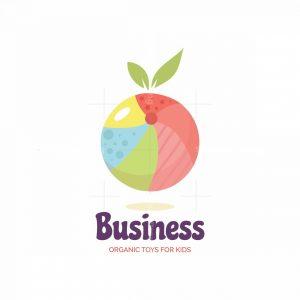Organic Ball For Kids Pictorial Logo