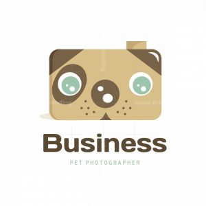 Dog Photographer Symbol Logo