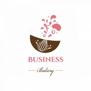 Pink Whisk Bakery Symbol Logo