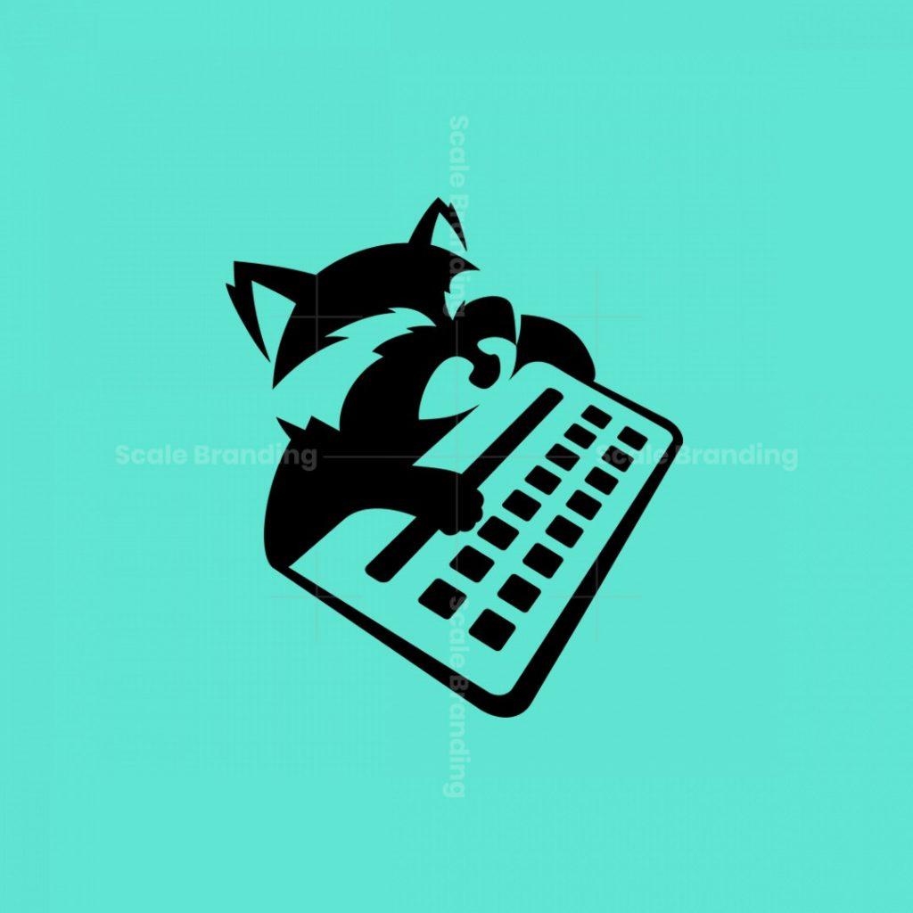 Gamer Raccoon Logo