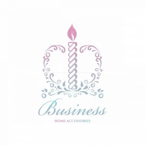 Romance Candle Home Accessories Floral Logo