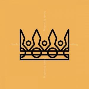 Royal Crown Line Art Icon Logo
