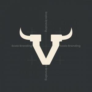 Letter V With Horn Logo