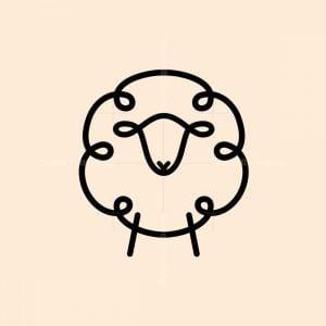 Minimal Sheep Logo